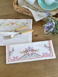 フランス 刺繍がかわいい カトラリーケース